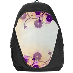 Floral Background Backpack Bag
