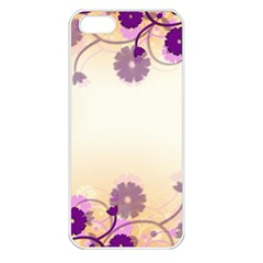 Floral Background Apple Iphone 5 Seamless Case (white)