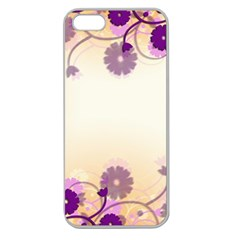 Floral Background Apple Seamless Iphone 5 Case (clear)