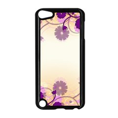 Floral Background Apple Ipod Touch 5 Case (black)