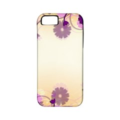 Floral Background Apple Iphone 5 Classic Hardshell Case (pc+silicone)