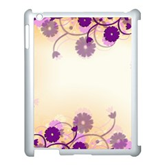 Floral Background Apple Ipad 3/4 Case (white)