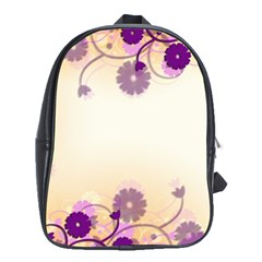 Floral Background School Bags (xl)