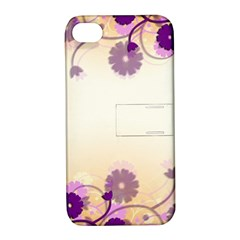 Floral Background Apple Iphone 4/4s Hardshell Case With Stand