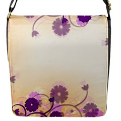 Floral Background Flap Messenger Bag (s)
