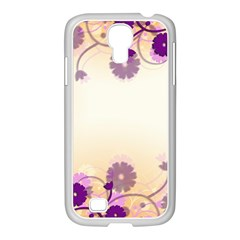 Floral Background Samsung Galaxy S4 I9500/ I9505 Case (white)