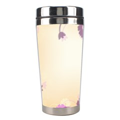 Floral Background Stainless Steel Travel Tumblers