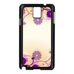 Floral Background Samsung Galaxy Note 3 N9005 Case (black)
