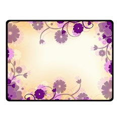 Floral Background Double Sided Fleece Blanket (small)