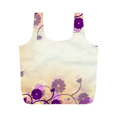 Floral Background Full Print Recycle Bags (m)