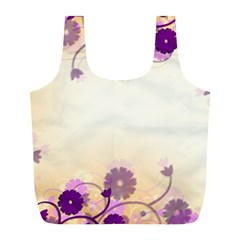 Floral Background Full Print Recycle Bags (L)