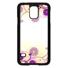 Floral Background Samsung Galaxy S5 Case (black)