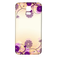 Floral Background Samsung Galaxy S5 Back Case (white)
