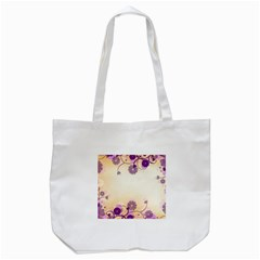 Floral Background Tote Bag (white)