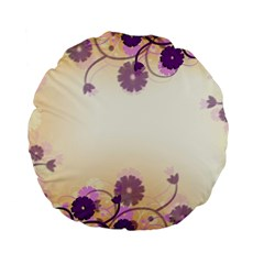 Floral Background Standard 15  Premium Flano Round Cushions