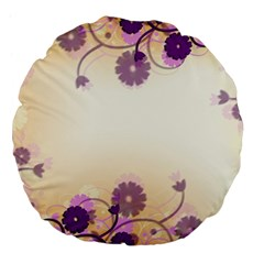 Floral Background Large 18  Premium Flano Round Cushions