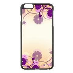Floral Background Apple Iphone 6 Plus/6s Plus Black Enamel Case