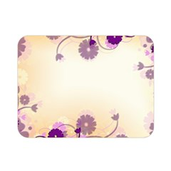 Floral Background Double Sided Flano Blanket (mini)
