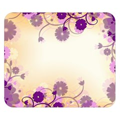 Floral Background Double Sided Flano Blanket (small)