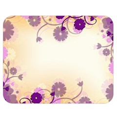 Floral Background Double Sided Flano Blanket (medium)