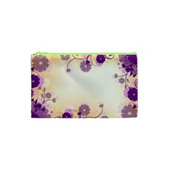 Floral Background Cosmetic Bag (xs)