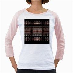 Fractal Art Design Geometry Girly Raglans