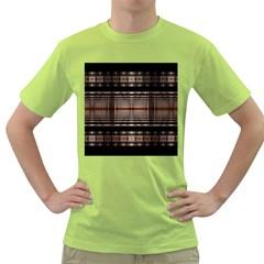 Fractal Art Design Geometry Green T Shirt