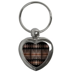 Fractal Art Design Geometry Key Chains (heart)