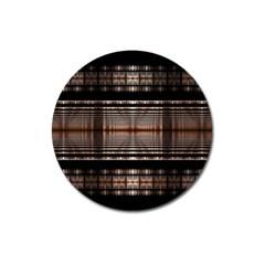 Fractal Art Design Geometry Magnet 3  (round)