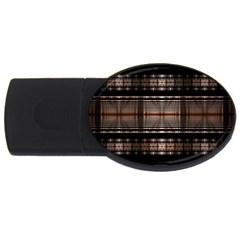 Fractal Art Design Geometry Usb Flash Drive Oval (2 Gb)