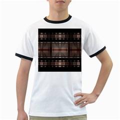 Fractal Art Design Geometry Ringer T Shirts