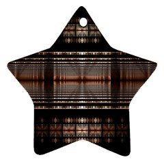 Fractal Art Design Geometry Star Ornament (two Sides)