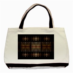 Fractal Art Design Geometry Basic Tote Bag (two Sides)