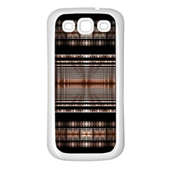 Fractal Art Design Geometry Samsung Galaxy S3 Back Case (white)