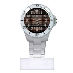 Fractal Art Design Geometry Plastic Nurses Watch