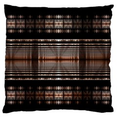 Fractal Art Design Geometry Large Flano Cushion Case (two Sides)