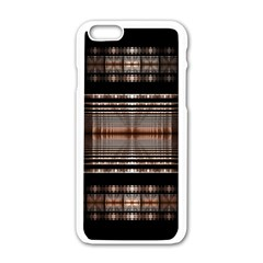 Fractal Art Design Geometry Apple Iphone 6/6s White Enamel Case