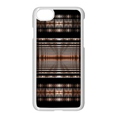 Fractal Art Design Geometry Apple Iphone 7 Seamless Case (white)
