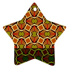 Geometry Shape Retro Trendy Symbol Ornament (star)