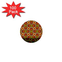 Geometry Shape Retro Trendy Symbol 1  Mini Buttons (100 Pack)