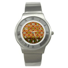 Geometry Shape Retro Trendy Symbol Stainless Steel Watch