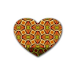 Geometry Shape Retro Trendy Symbol Rubber Coaster (heart)