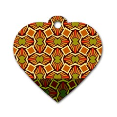Geometry Shape Retro Trendy Symbol Dog Tag Heart (one Side)
