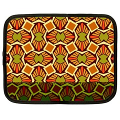 Geometry Shape Retro Trendy Symbol Netbook Case (Large)