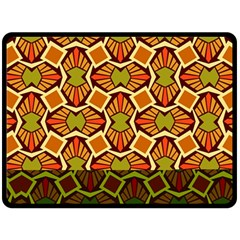 Geometry Shape Retro Trendy Symbol Fleece Blanket (large)