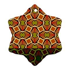 Geometry Shape Retro Trendy Symbol Ornament (snowflake)