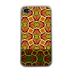 Geometry Shape Retro Trendy Symbol Apple Iphone 4 Case (clear)