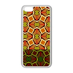 Geometry Shape Retro Trendy Symbol Apple Iphone 5c Seamless Case (white)