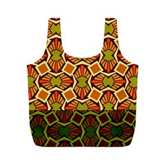Geometry Shape Retro Trendy Symbol Full Print Recycle Bags (m)
