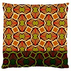 Geometry Shape Retro Trendy Symbol Large Flano Cushion Case (one Side)